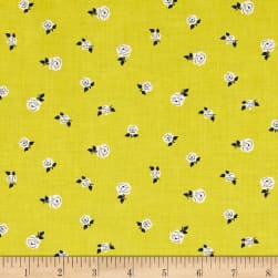 Sweet Florals Tiny Rose Citrus Fabric