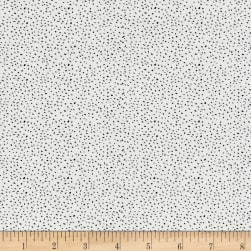 Sweet Florals Scattered Dot White Fabric