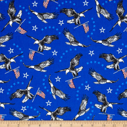 Liberty Eagles Royal Fabric