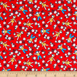 Bon Voyage Strawberry Fields Rosebud Fabric