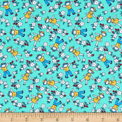 Bon Voyage Strawberry Fields Jade Fabric