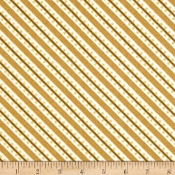 Sparkle Metallic Stripe Gold Fabric