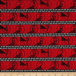 Ligthts, Camera, Action Coundown Red Fabric
