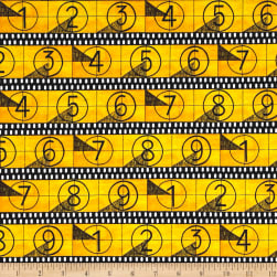 Lights, Camera, Action Countdown Yellow Fabric