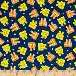 The Big Dig Safety Vests Navy Fabric