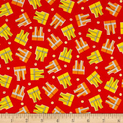 The Big Dig Safety Vests Red Fabric