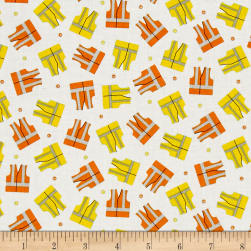 The Big Dig Safety Vests White Fabric