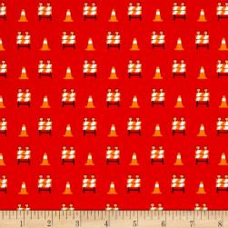 The Big Dig Baracade Red Fabric