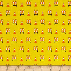 The Big Dig Baracade Yellow Fabric
