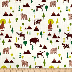 Coast to Coast Wildlife White Fabric