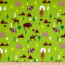 Coast to Coast Wildlife Light Green Fabric