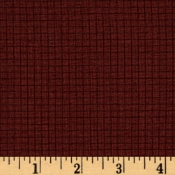 Coast to Coast Grid Brown Fabric