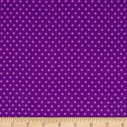 Bread & Butter Sprinkle Tossed Squares Violet Fabric