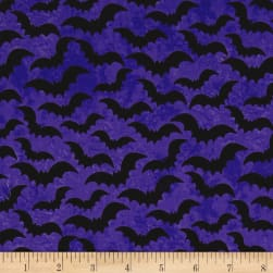 Eat, Drink & Be Scary Bats Purple Fabric