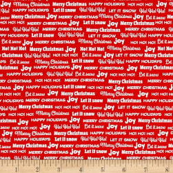 Bread & Butter Joy Words Red Fabric
