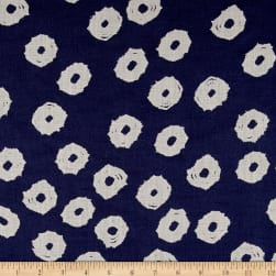 Twilight Mud Cloth Dot Indigo Blue Fabric