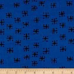 Twilight Mud Cloth Criss Cross Twilight Blue Fabric