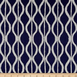 Twilight Hourglass Stripe Indigo Blue Fabric