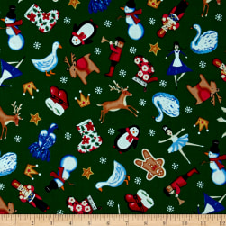 O' Christmas Tree Toys Green Fabric