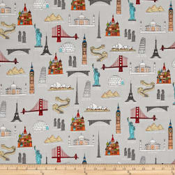 We Share One World Landmarks Multi Fabric