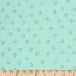 Susybee Squiggles Aqua Fabric