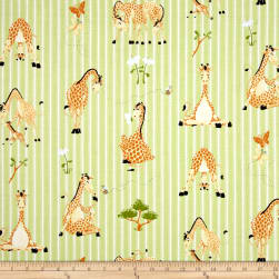 Susybee Zoe the Giraffe Stripe Green Fabric