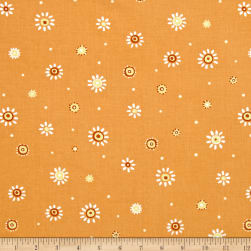 Susybee Sunburst Dot Orange Fabric