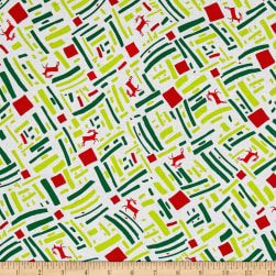 Green and Red Dasher Bright Fabric