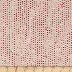 Green and Red String Tan Fabric