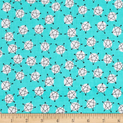Andover And Z Stars Teal Fabric