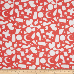 Lizzy House Printmaking Lawn Benjamin Red Fabric