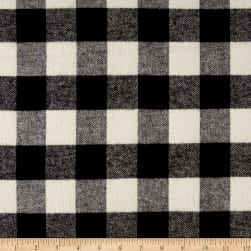 Primo Plaids Classics Flannel Buffalo Check Black Fabric