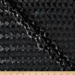 International Designer Sequined Raised Harlequin Black Fabric