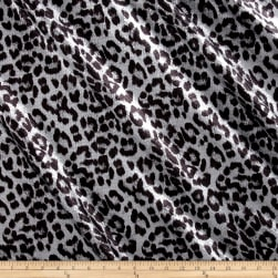 International Deisgner Stretch Sequined Animal Print Black/Matte