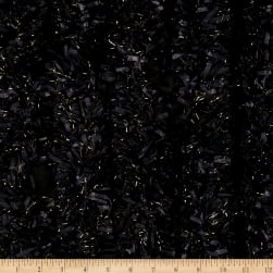 International Designer Fringed Fabric Black/Gold Fabric