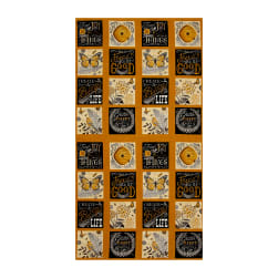 "Moda Bee Inspired Nature Blocks 23.5"" Panel Honey Yellow"
