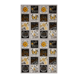 "Moda Bee Inspired Nature Blocks 23.5"" Panel Pebble Grey"