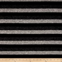 Brushed Hatchi Knit Stripe Black/Grey
