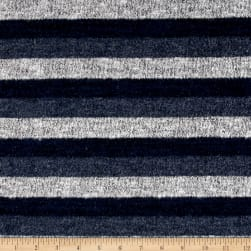 Brushed Hatchi Knit Stripe Navy/Grey