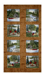 Moda River Journey 24'' Panel Buckskin Fabric