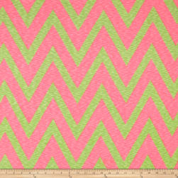 Rihan Jersey Knit Oversized Chevron Lime and Bright