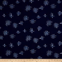 Indigo Summer Graphic Hashtag Navy Fabric