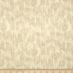 Indigo Summer Graphic Lines Cream Fabric