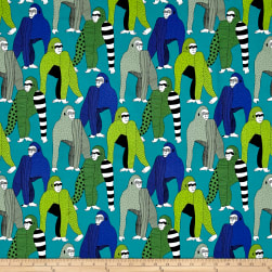 Alexander Henry Africa Obi Turquoise Fabric