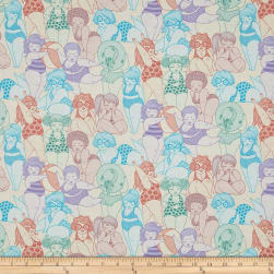 Alexander Henry Boardwalk Bathing Beauties Pastel Peach Fabric