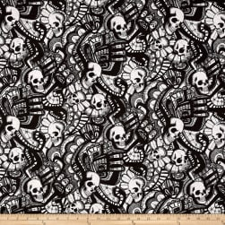 Alexander Henry Skullduggery The Catacombs Black/White Fabric