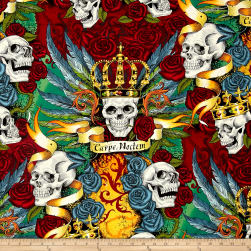 Alexander Henry Skullduggery Royal Bright Fabric