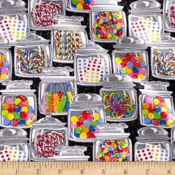Glitter Candy Jars Black Fabric