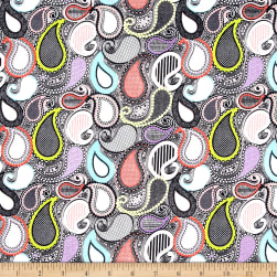 Riley Blake Sundance Paisley Gray Fabric