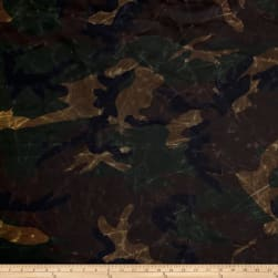 13.7 oz Waxed Army Duck Canvas Camo Fabric